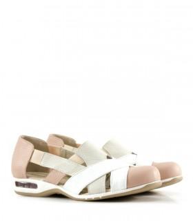 Confort de cuero en rosa/blanco/natural