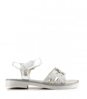 Sandalias de glitter en plata
