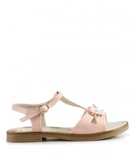 Sandalias de símil en rosa