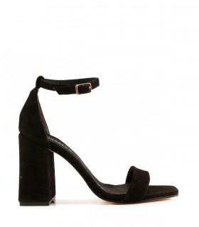 Sandalias de gamuza negro