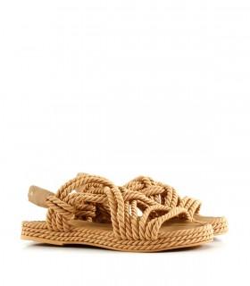 Sandalias bajas trenzadas en suela