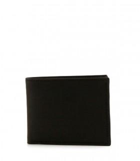 Billetera de cuero negro