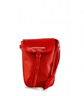 Mini bandolera de símil en rojo