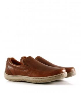 Zapatos confort de cuero graneado marrón