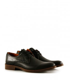 Zapatos de vestir de cuero en negro