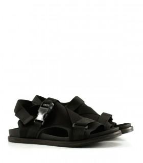 Sandalias de tela en negro