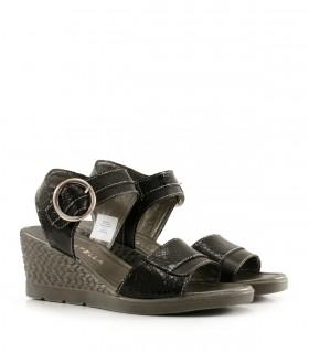 Sandalias de símil en negro