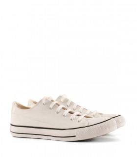 Zapatillas urbanas de tela en  blanco