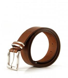 Cinto de cuero en marrón
