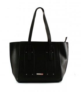 Maxi bolso de símil en negro