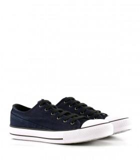 Zapatillas urbanas de tela en azul