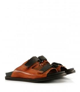 Sandalias de cuero en pampa/suela