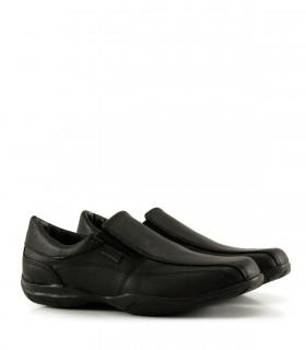 Zapatos náuticos colegiales escolares de cuero negro del 34 al 40