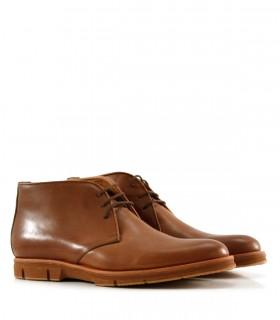 Botinetas de cuero marrón