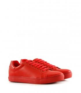 Zapatillas urbanas de cuero rojo