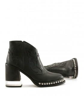 Botas cortas de cuero negro