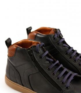 Zapatillas urbanas de cuero azul