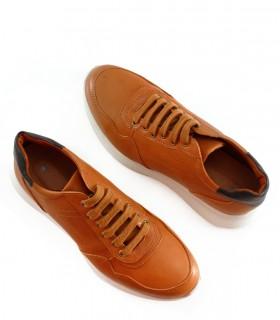 Zapatillas urbanas de cuero en suela