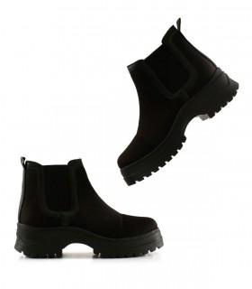Botas cortas de tela en negro
