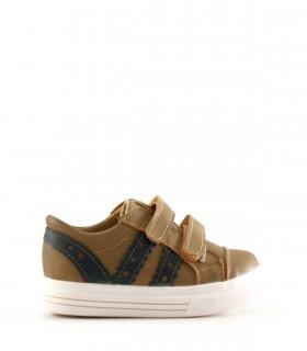 Zapatillas de cuero en beige