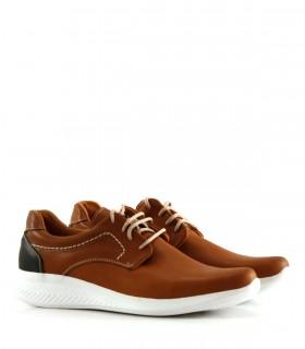 Zapatos acordonados de cuero suela