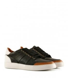 Zapatillas urbanas de cuero negro combinadas