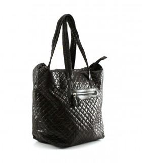 Maxi bolso de tela en negro