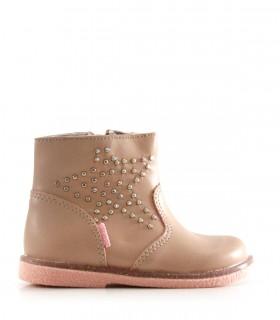 Botas cortas de Símil cuero en rosa