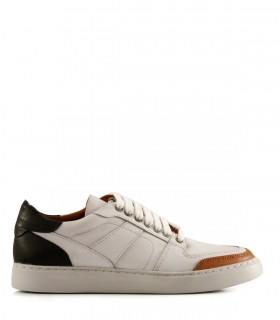 Zapatillas urbanas de cuero blanco combinadas