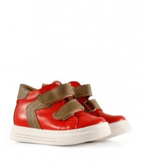 Botas de símil en rojo