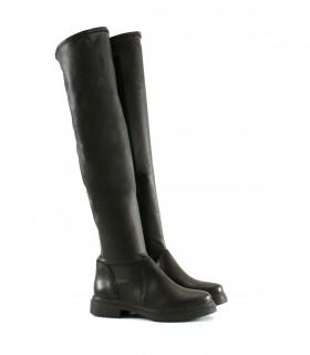 Botas altas de tela en negro