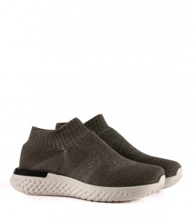 Zapatillas urbanas de cuero en gris