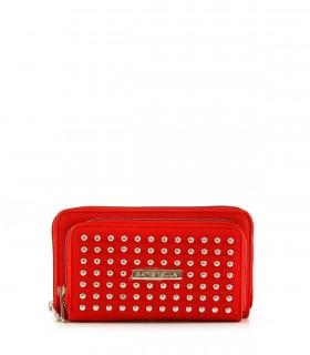 Billeteras de símil en rojo