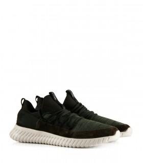 Zapatillas urbanas de tela y gamuza en verde
