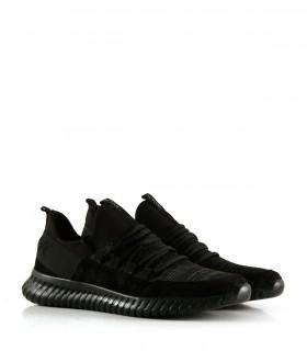 Zapatillas urbanas de tela y gamuza en negro