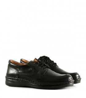 Zapatos Confort de cuero negro