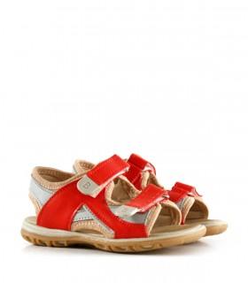 Sandalias de símil en rojo