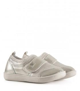 Zapatillas urbanas de tela en plata