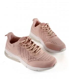 Zapatillas urbanas de tela rosa con cámara de aire