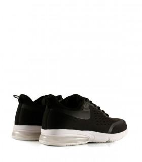 Zapatillas urbanas de tela en negro con cámara de aire