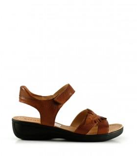 Sandalias confort de cuero con velcro