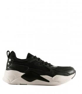 Zapatillas urbana negra con plataforma blanca