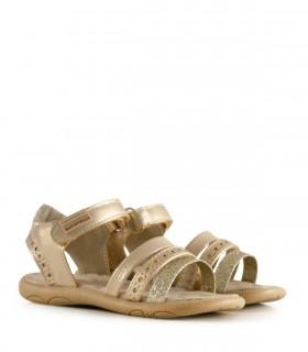 Sandalias de símil en oro