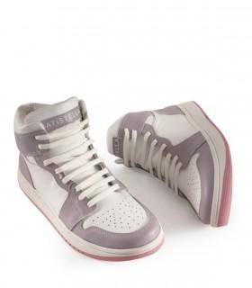Zapatillas urbanas de cuero en lila