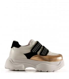 Zapatillas urbanas de símil en oro