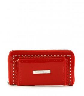 Billeteras con correa de símil  en rojo