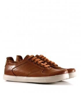 Zapatillas urbanas de cuero en marrón combinadas
