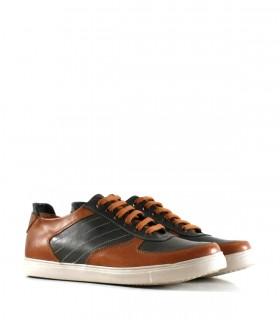 Zapatillas urbanas de cuero en suela combinadas