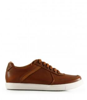 Zapatillas urbanas de cuero en marrón