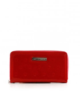 Billeteras grabadas con correa de símil  en rojo